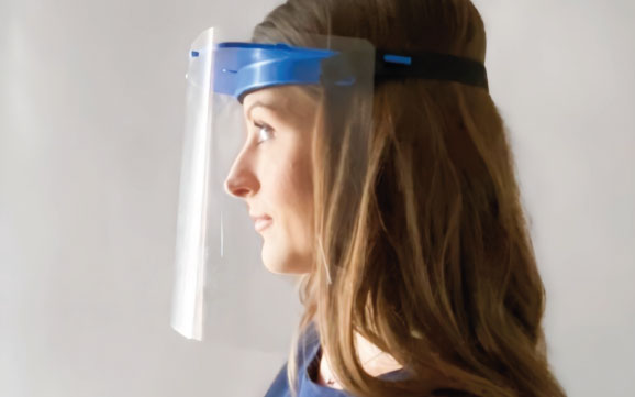 Face shield made by Pressco Medical - UK PPE Supplier